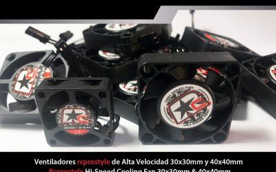 RC Pro Style, ventiladores de alta velocidad de 30 y 40mm