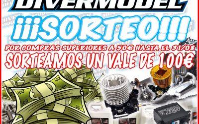 SORTEO AGOSTO - ¡Divermodel te regala 100€ para comprar lo que quieras! Más info en la noticia