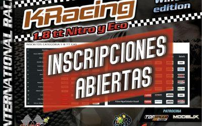 KRacing Winter Edition La Nucia - ¡Inscripciones abiertas!