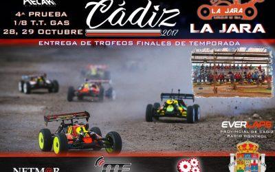 28 y 29 de Octubre - Cierre del Provincial 1/8 TT Gas de Cádiz en Club RC La Jara
