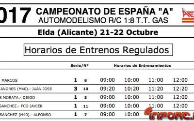 Nacional A 1/8 TT Gas Elda - ¡¡Fin de campeonato!! Distribución de pilotos y horarios de entrenos