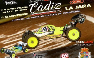 11 y 12 de Noviembre - Clausura del Provincial de Cádiz 1/8 TT Eléctricos