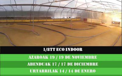 Calendario 2º Campeonato Euskadi 1/8 TT Eléctrico Indoor
