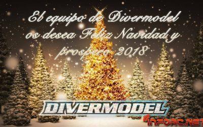 Divermodel os desea felices fiestas y prospero año nuevo...¡y nuestro sorteo está al caer!