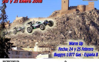 20 y 21 de Enero - Segunda prueba Campeonato del Levante 1/8 TT Gas en RC Sax