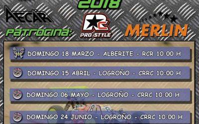 Calendario del Campeonato Regional La Rioja 1/8 TT Eléctrico