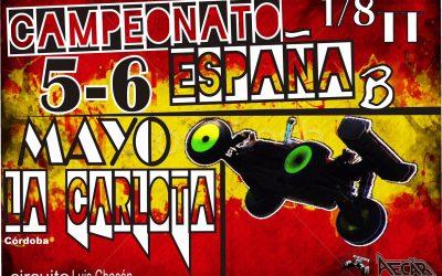 5 y 6 de Mayo - Segunda prueba del Campeonato de España B 1/8 TT Gas en La Carlota