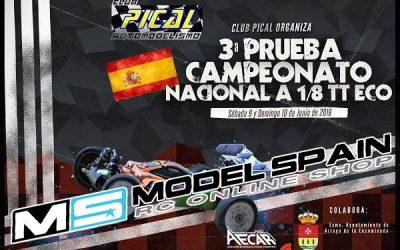 Modelspain.com dará este fin de semana soporte en el Nacional 1/8 TT-E de Valladolid