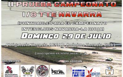 29 de Julio - Segunda prueba Campeonato 1/8 TT-E Navarra