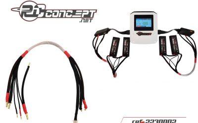 Cable para cargar dos baterías de 7,4V de RC Concept