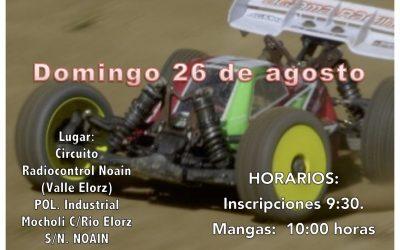 26 de Agosto - Tercera prueba Campeonato 1/8 TT-E Navarra