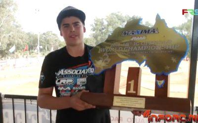 Davide Ongaro, Campeón del Mundo 1/8 TT Gas 2018.