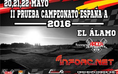 Cierre de inscripciones - Campeonato de España 1/8 TT Gas 2016 - El Alamo