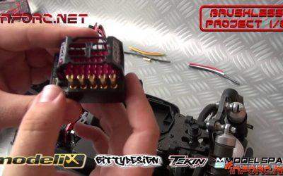Brushless Project 1/8 - Preparando cables y planteando elementos en el coche
