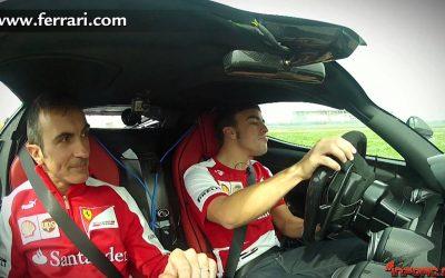 """Fernando Alonso, """"piano piano"""" con el nuevo La Ferrari"""