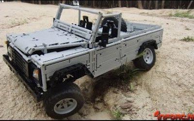 Land Rover Defender 110 radiocontrol con piezas de Lego, alucinante