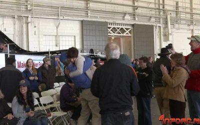 Record del mundo en lanzamiento de avion de papel