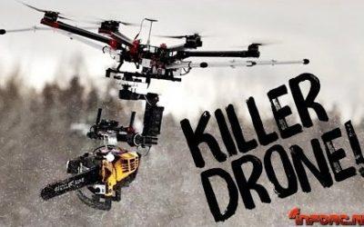 Video - Dron con una motosierra instalada